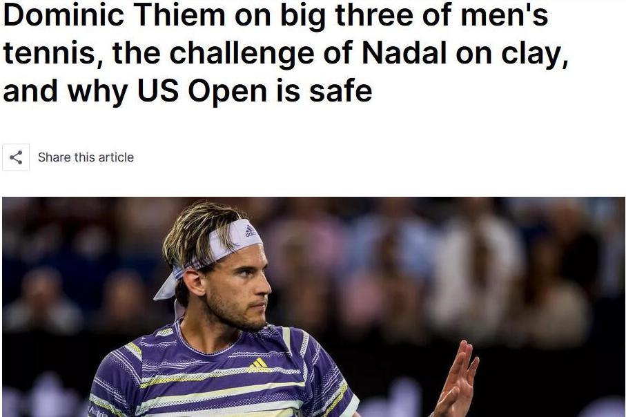 蒂姆:法网决赛打纳达尔是最大挑战 澳网战德约科维奇是史诗对决