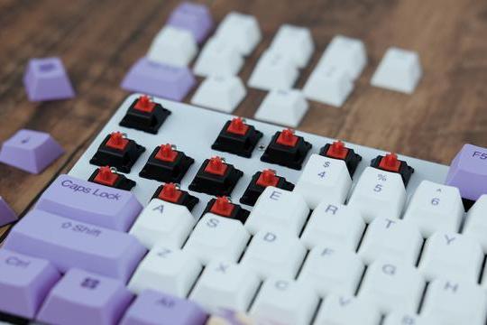 梦幻紫主题机械键盘!达尔优A87红轴上手