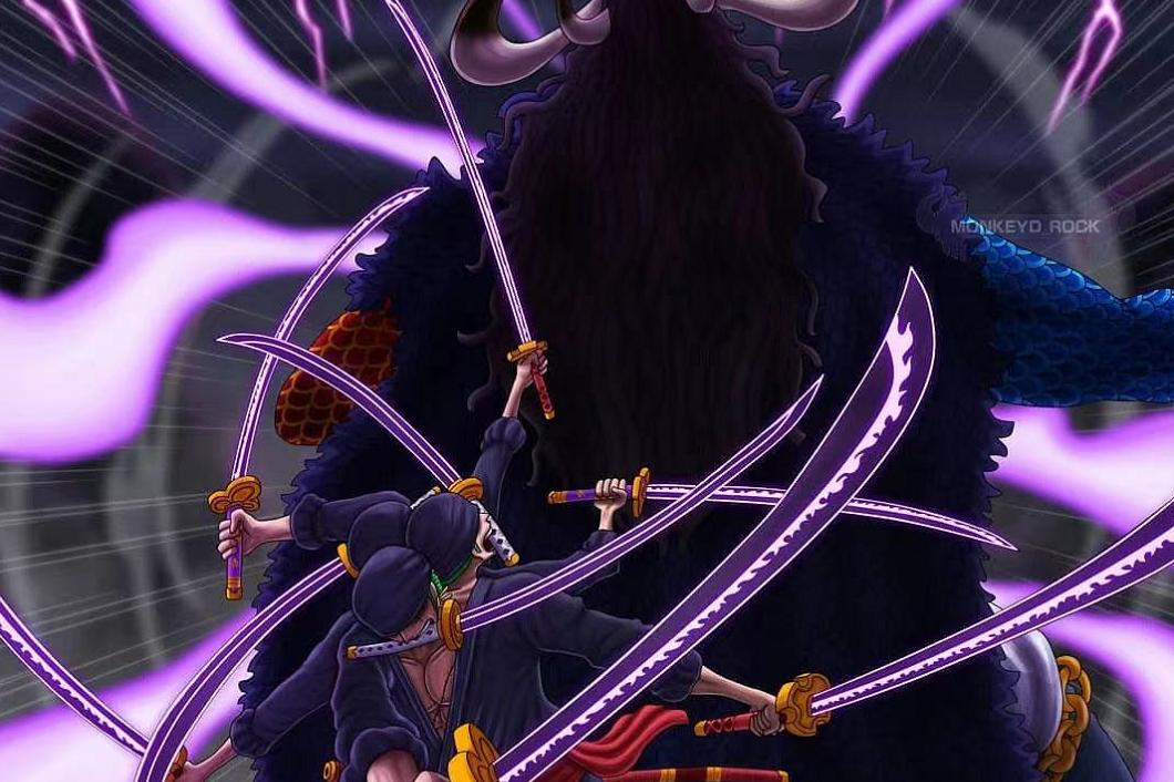 海贼王1010话,索隆凭九刀流砍伤凯多,就证明他有大将实力了?