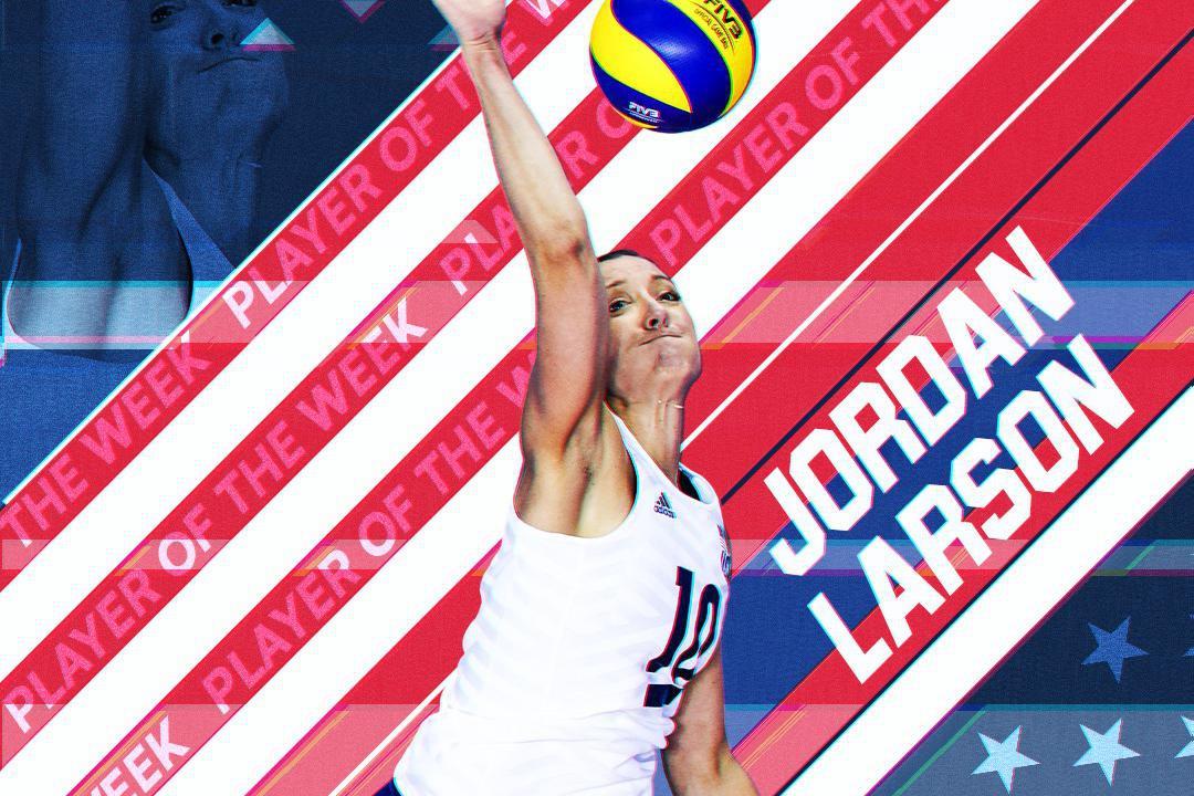 Jordan Larson!国际排联第28期星主角美国女排队长拉尔森!