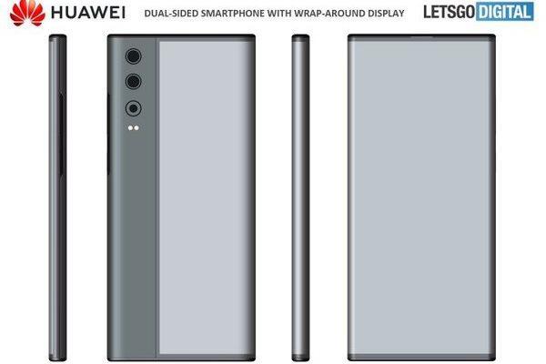 华为全新类似环绕屏手机专利曝光 后置三摄形似Mate X