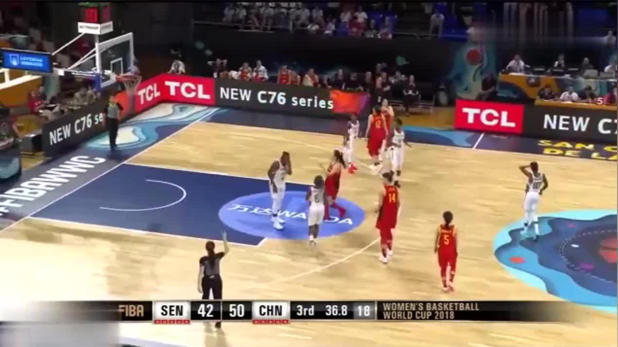 中塞女篮对决中国女篮,单回合智取5分,李梦带队继续拉开比分