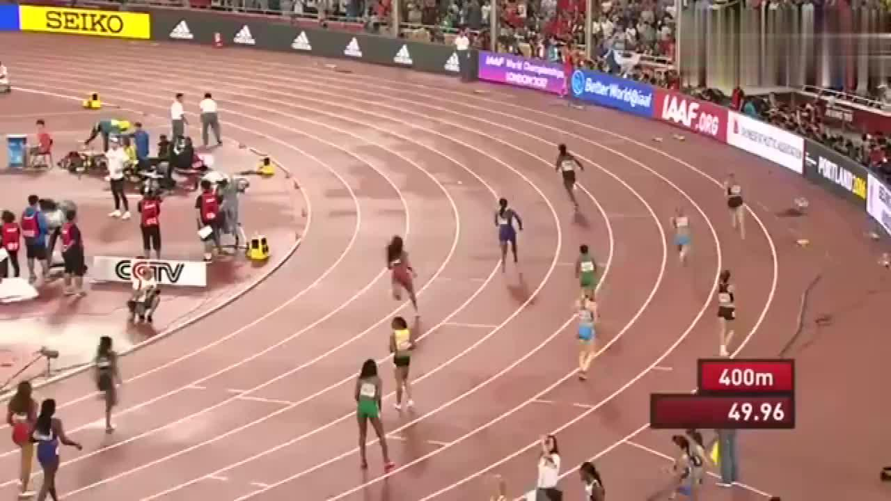 女子4x400,牙买加队最后一棒,威廉姆斯神奇发挥逆转美国队