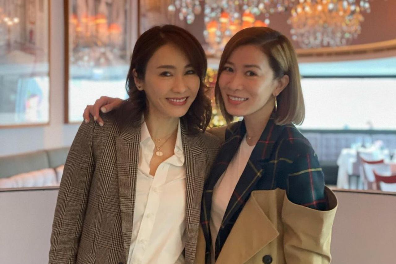 TVB两大花旦佘诗曼黎姿聚会掀剧迷回忆杀,当年两人曾传不和