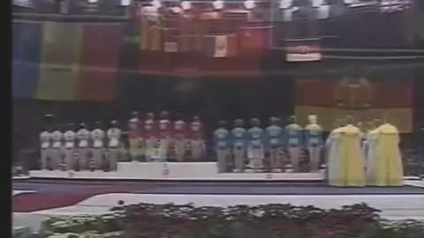 1988汉城奥运会,前苏联女子体操队最后一次领奖台