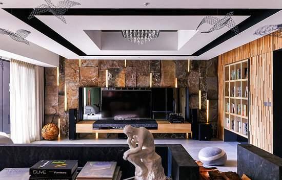 219平奢华大空间,流星璀璨点缀客厅,全屋效果自然大气