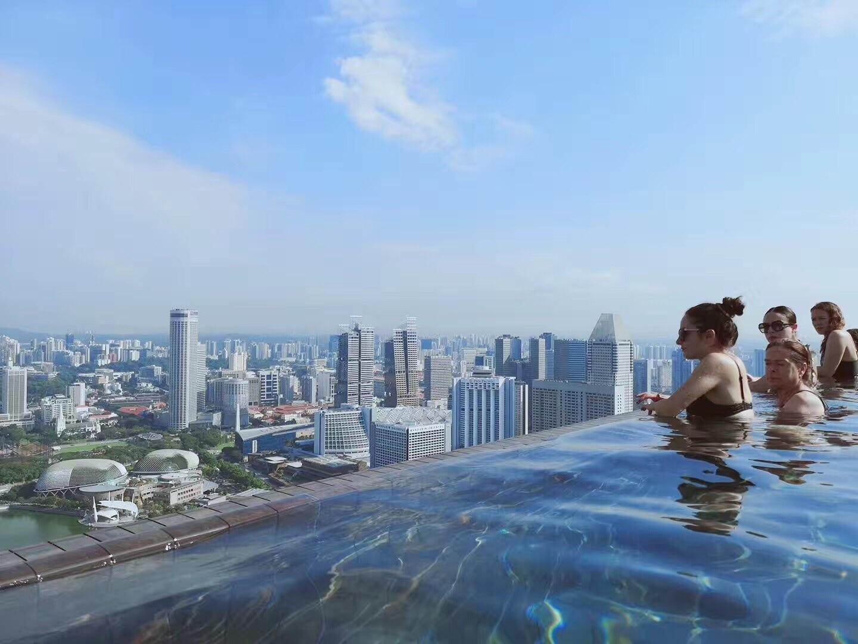 新加坡 滨海湾金沙酒店无边泳池