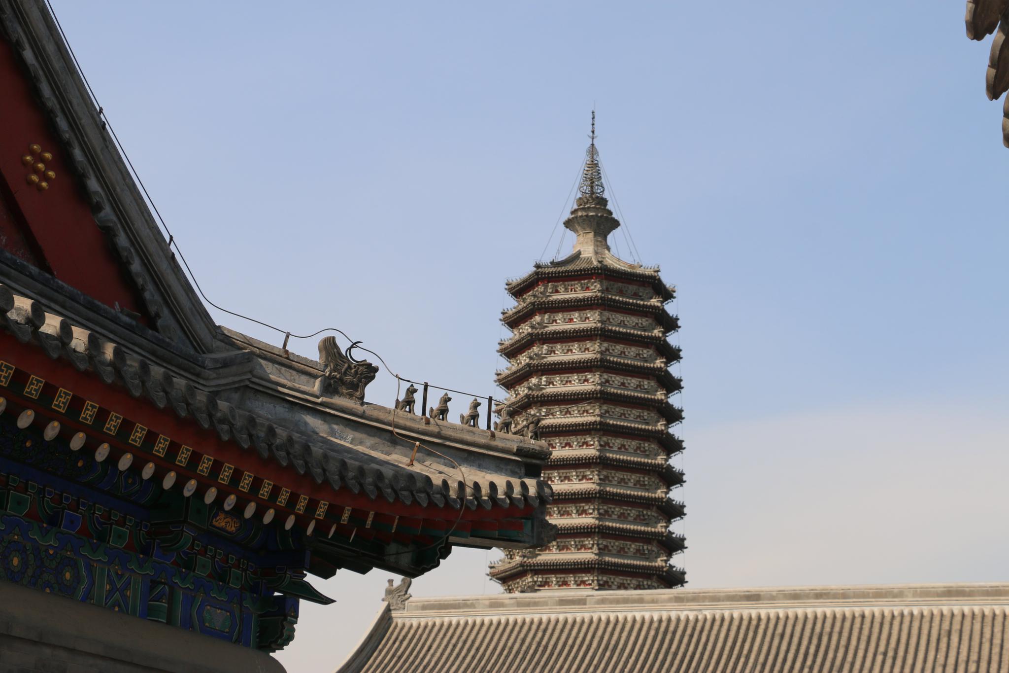 秋游 北京市 通州区 燃灯佛舍利塔 被称为一枝塔影认通州