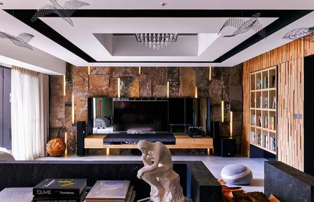 219平奢华大空间,流星璀璨点缀客厅,引光入户净感十足