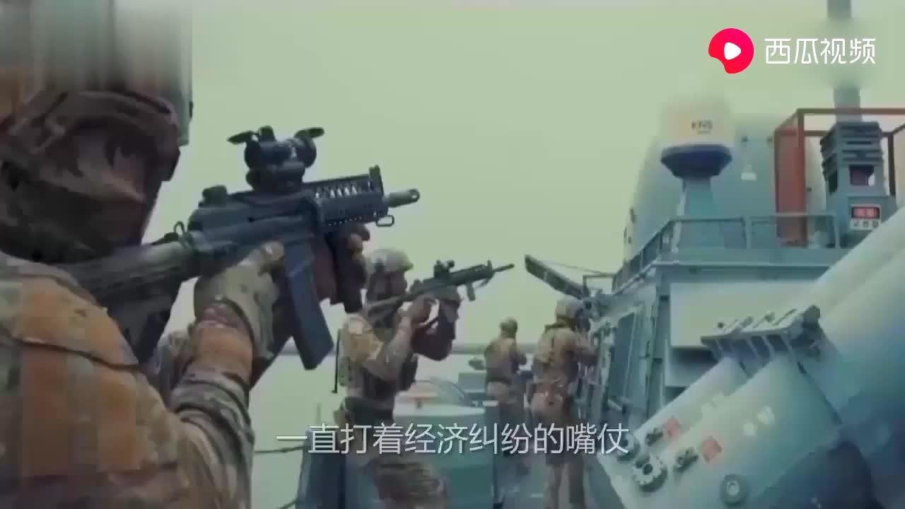韩国罕见出手,军舰在竹岛猛烈的开火打掉6个日目标
