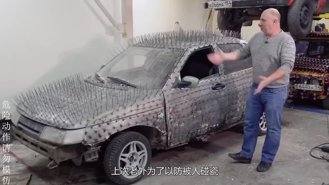 把汽车轮胎换成锯片,秒变切割器,对准西瓜后好戏才刚刚开始!