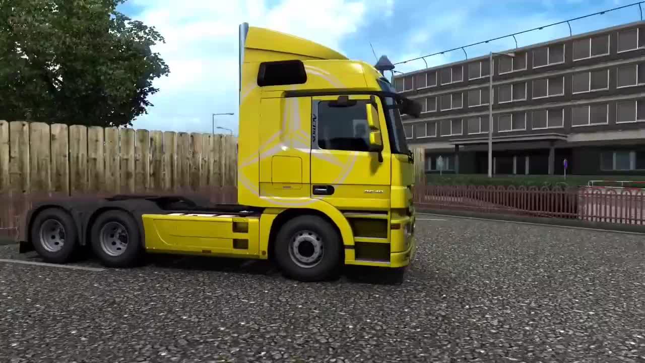 欧卡2:466马力奔驰牵引车运输40吨柠檬水,驾驶技术杠杠的