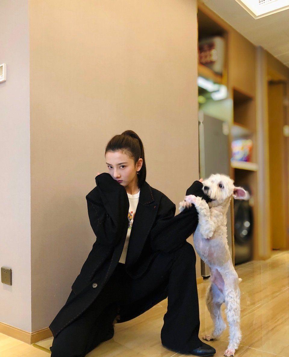 祖鹅难得晒出搞怪西装自拍,大家却把注意力放在旁边的宠物身上