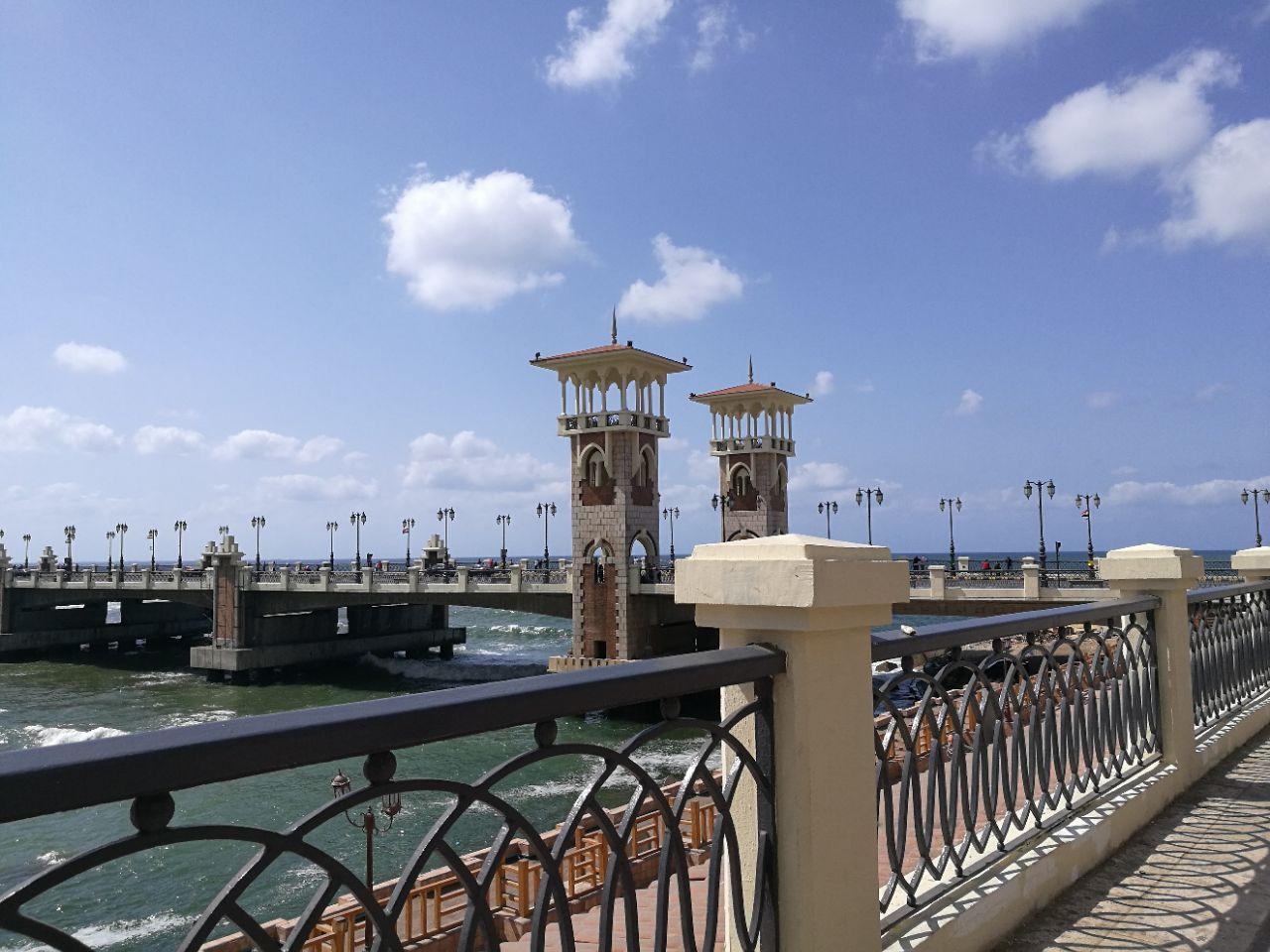 游览 非洲 埃及 亚历山大 斯坦利桥