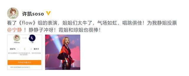 《乘风破浪的姐姐》二次公演:许凯为宁静投票,张歆艺为阿朵加油