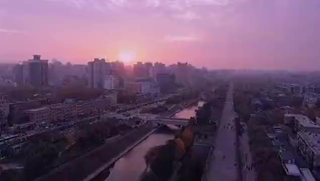500米空中的西安城墙,南门,钟楼,看看和地面什么区别?
