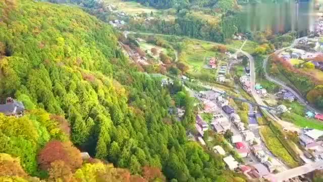 2020航拍山形县红叶季