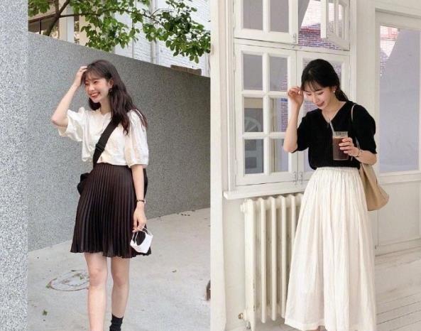 韩国小个子欧尼的夏日穿搭,每一套都俏皮减龄
