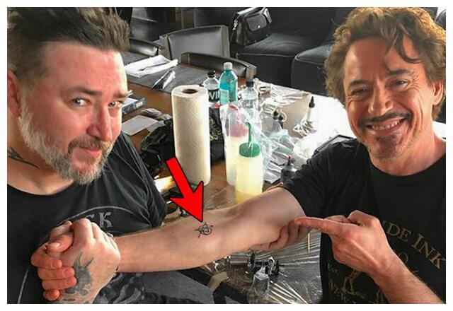 为纪念角色而纹身的漫威演员,唐尼纹在胳膊上,荷兰弟笑死人了!