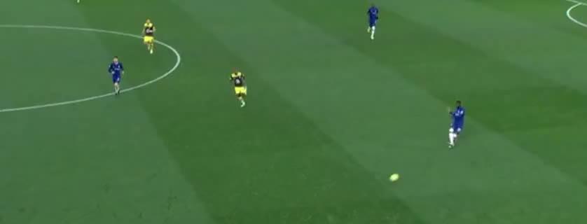 托莫里断球失误,奥巴费米杀入禁区弧线球破门