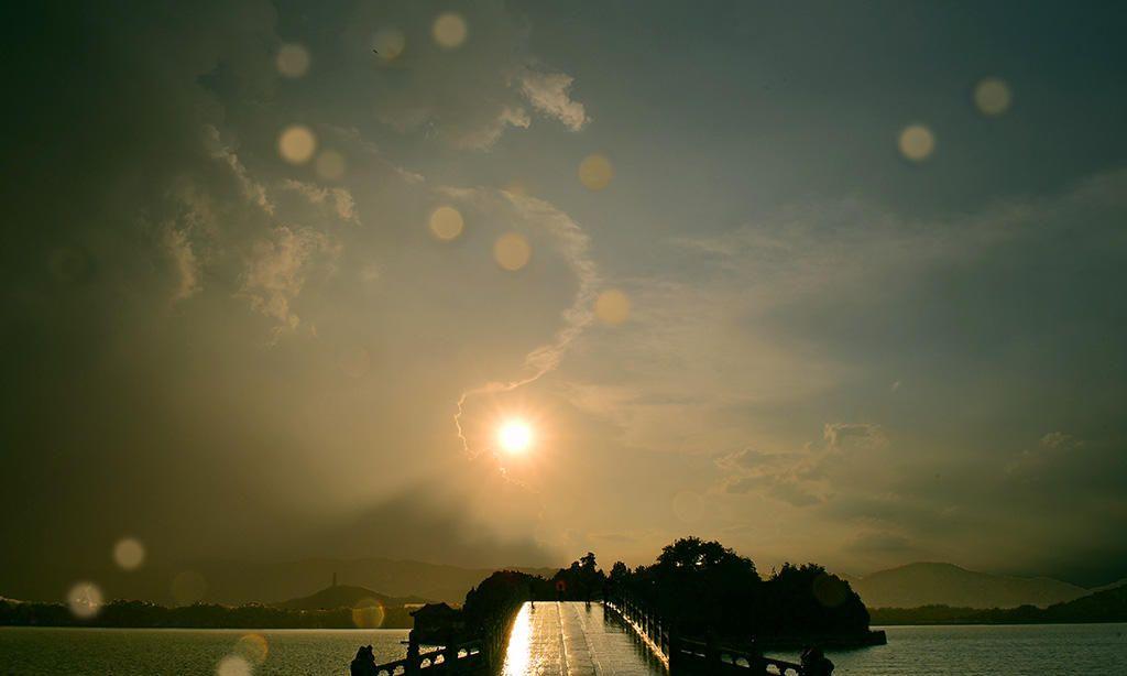 风光摄影:颐和园风雨后的彩虹