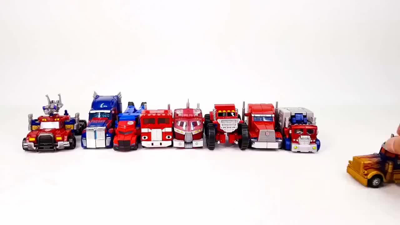 不同车型的擎天柱机器人工程车卡车汽车模型玩具