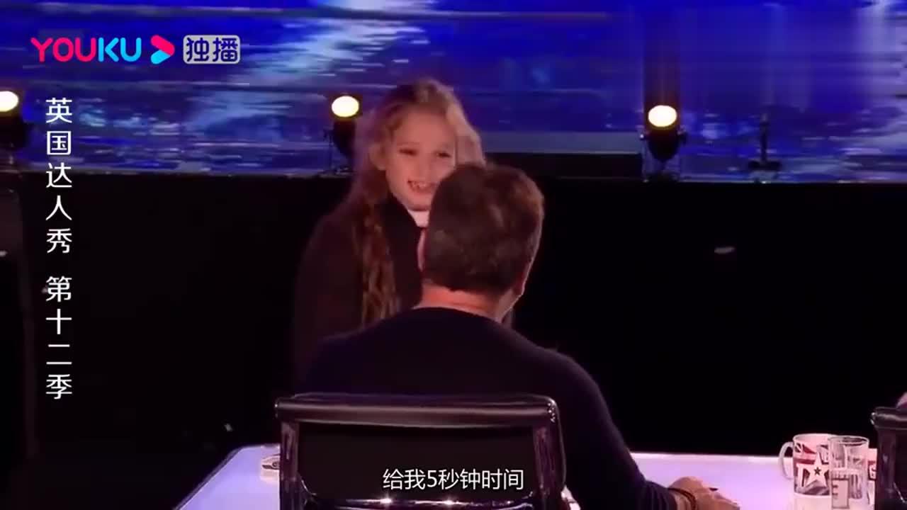 英国达人秀:最年轻的魔术师,小女孩的表演简直不可思议!厉害