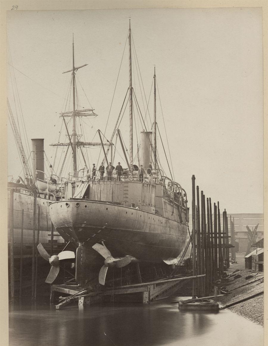 北洋水师扬威号巨图