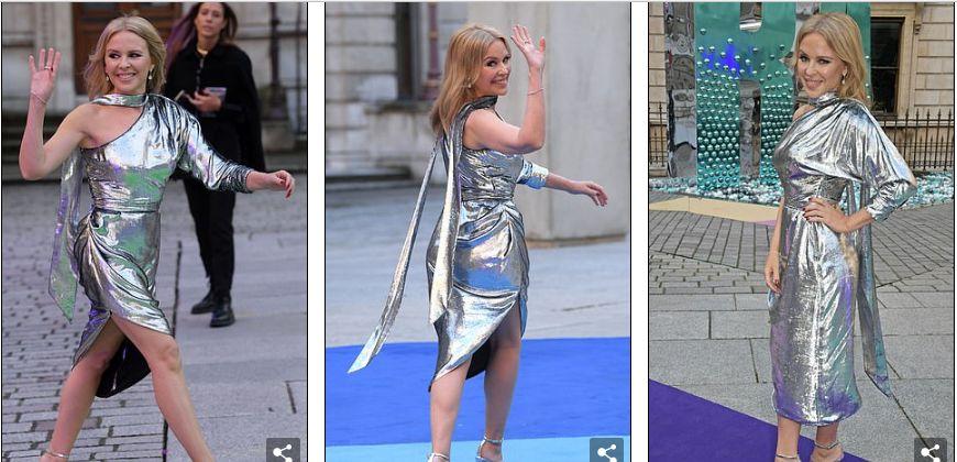 51岁的著名女艺人凯莉·米洛现身伦敦,身高155却显得身材修长