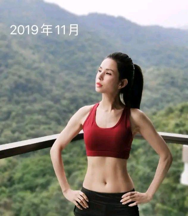李若彤晒健身成果,大秀6块腹肌,把年龄活成迷的女人