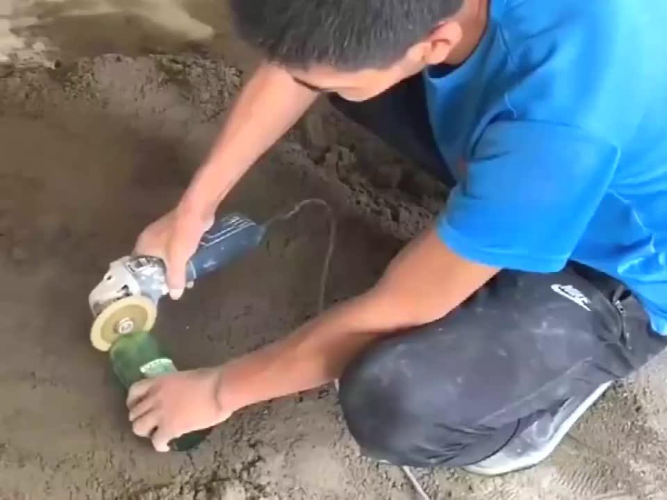 老瓦工做地漏,放那个啤酒瓶是啥作用!