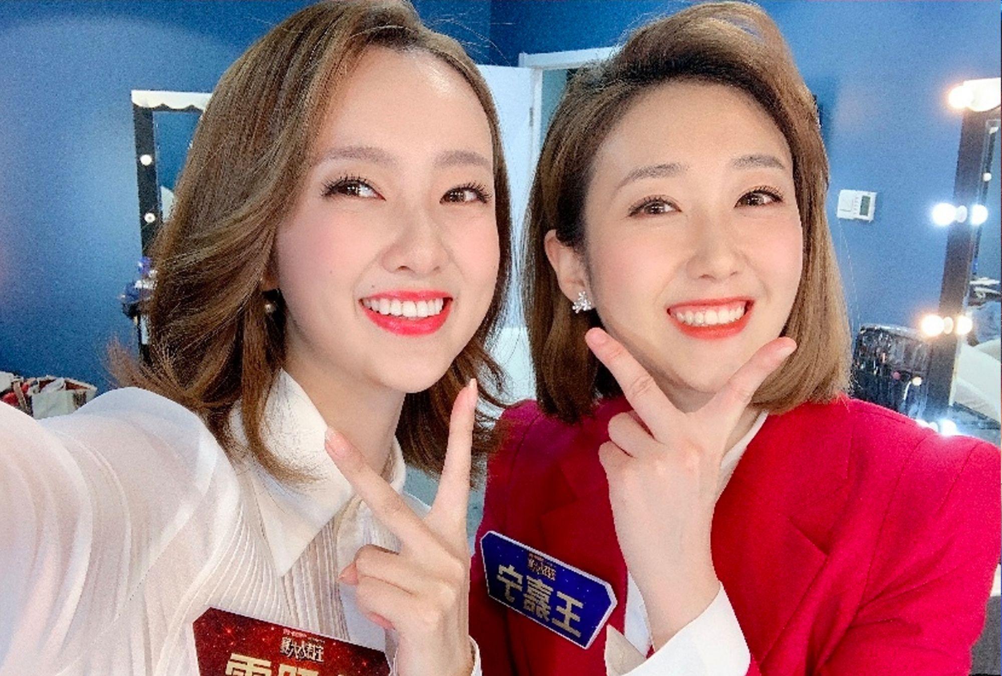 主持人大赛有两位女神选手,相貌相似好像双胞胎姐妹