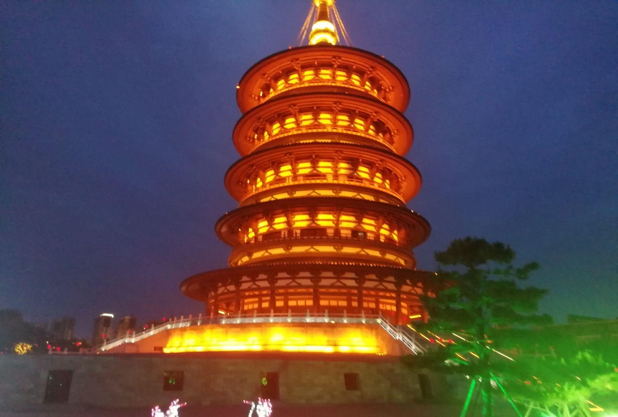 洛阳著名旅游景点天堂明堂夜景简介美图锦集