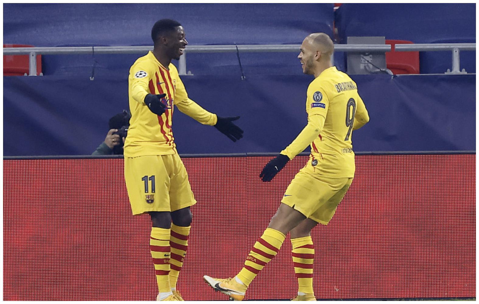 巴萨连环操作坑惨科曼,高薪天才23场0球,弃将进球数追平梅西