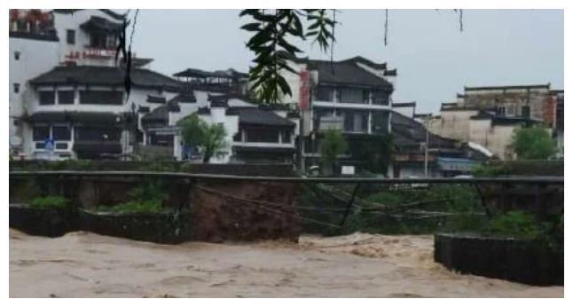 """黄山明代老桥被冲毁,曾三次毁于""""水祸"""",安徽失去了赛扬州之景"""