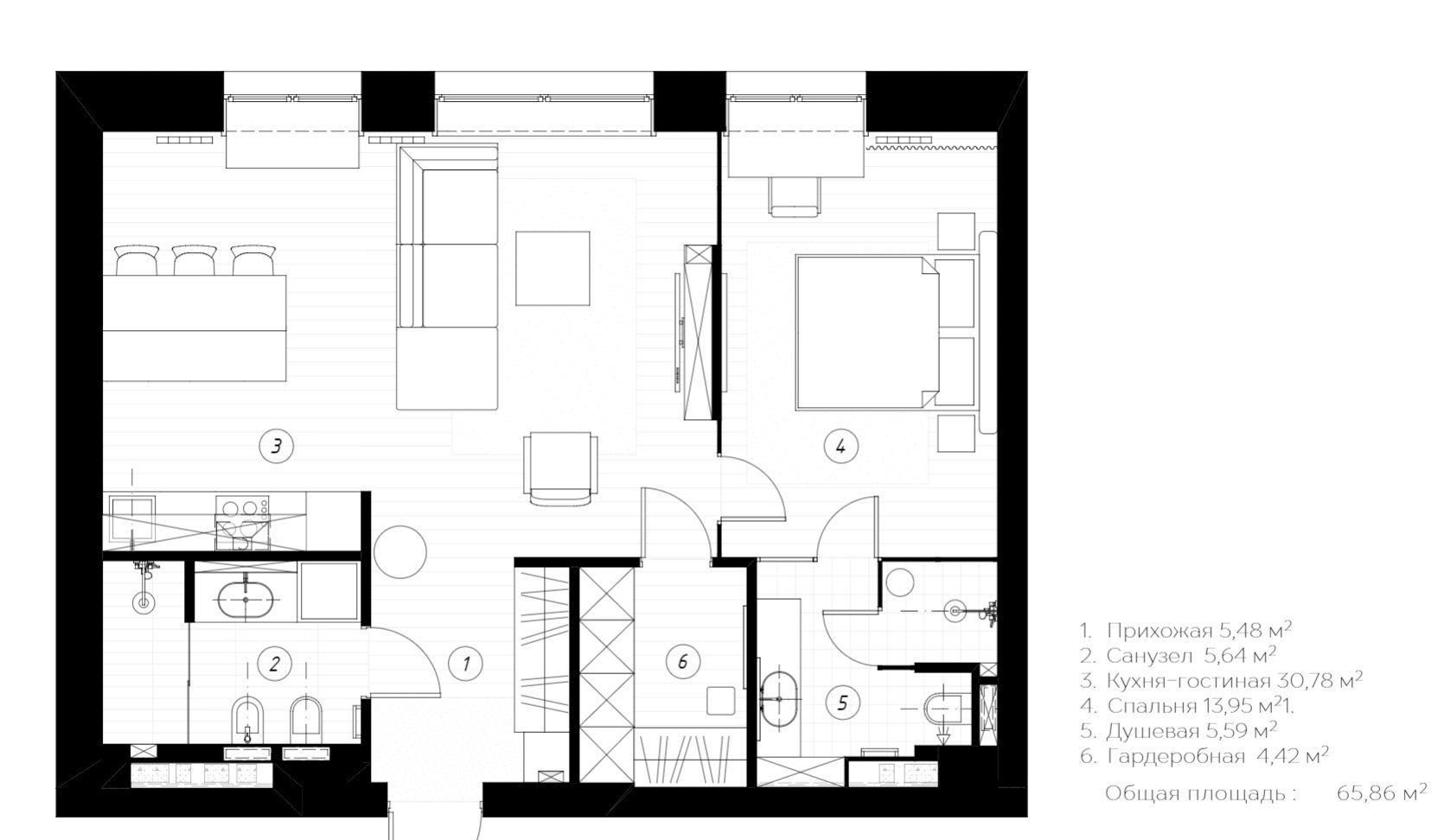 小两口改造66平方小户型,追求时尚与潮流,布局空间完美结合