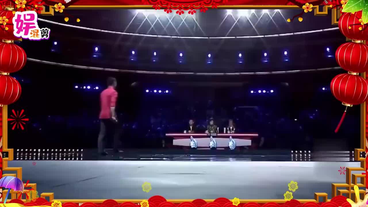 选手第一次回国表演,评委周立波、李连杰抬头看演技,绝了