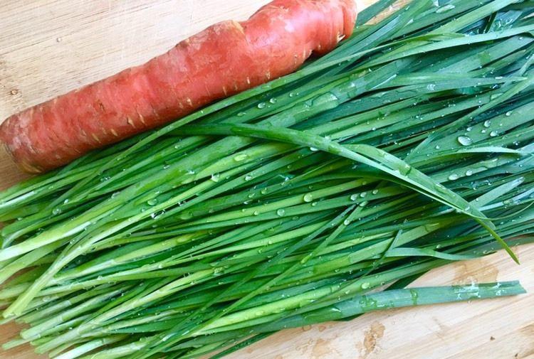 用2块钱成本,做一道韭菜凉拌胡萝卜,酸辣开胃,我家最近天天吃