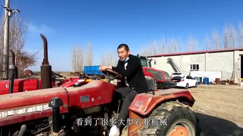 新疆农民试驾唯美德2104价值80多万的农用拖拉机感受如何