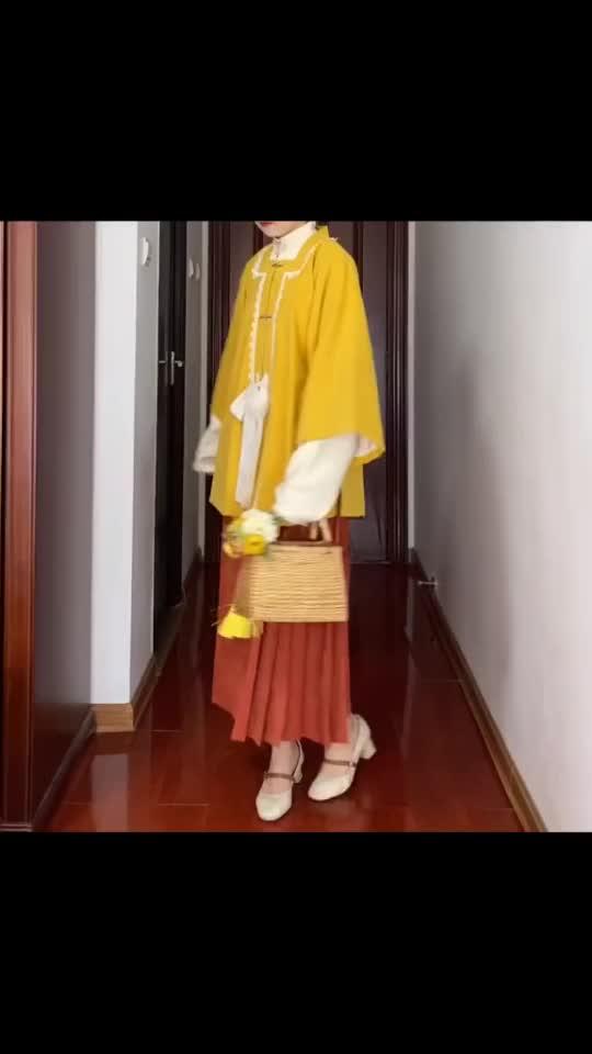 古风汉服穿搭,六八半袖披袄,清新少女般的感觉!