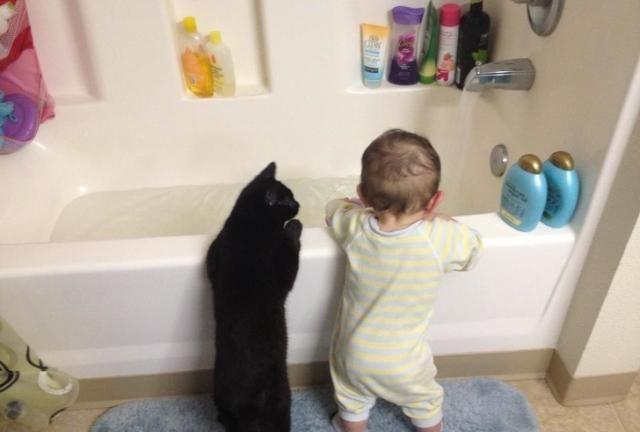 萌哒哒的小宝宝和萌哒哒的小宠物,带给你双倍的快乐!