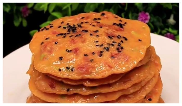2个西红柿,3个鸡蛋,教你做美味的早餐饼,简单又营养,真好吃