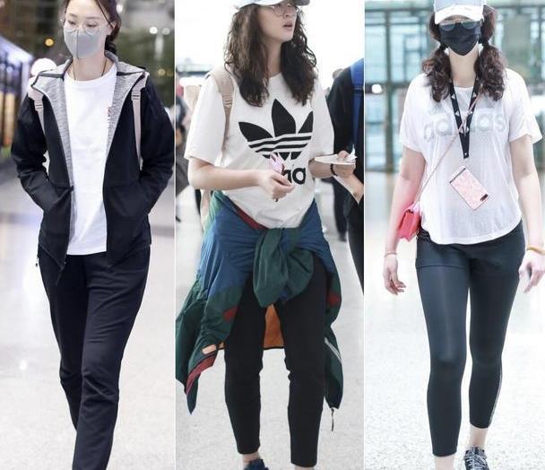 女排健将惠若琪颜值高身材好,穿运动装走机场,192cm身高真