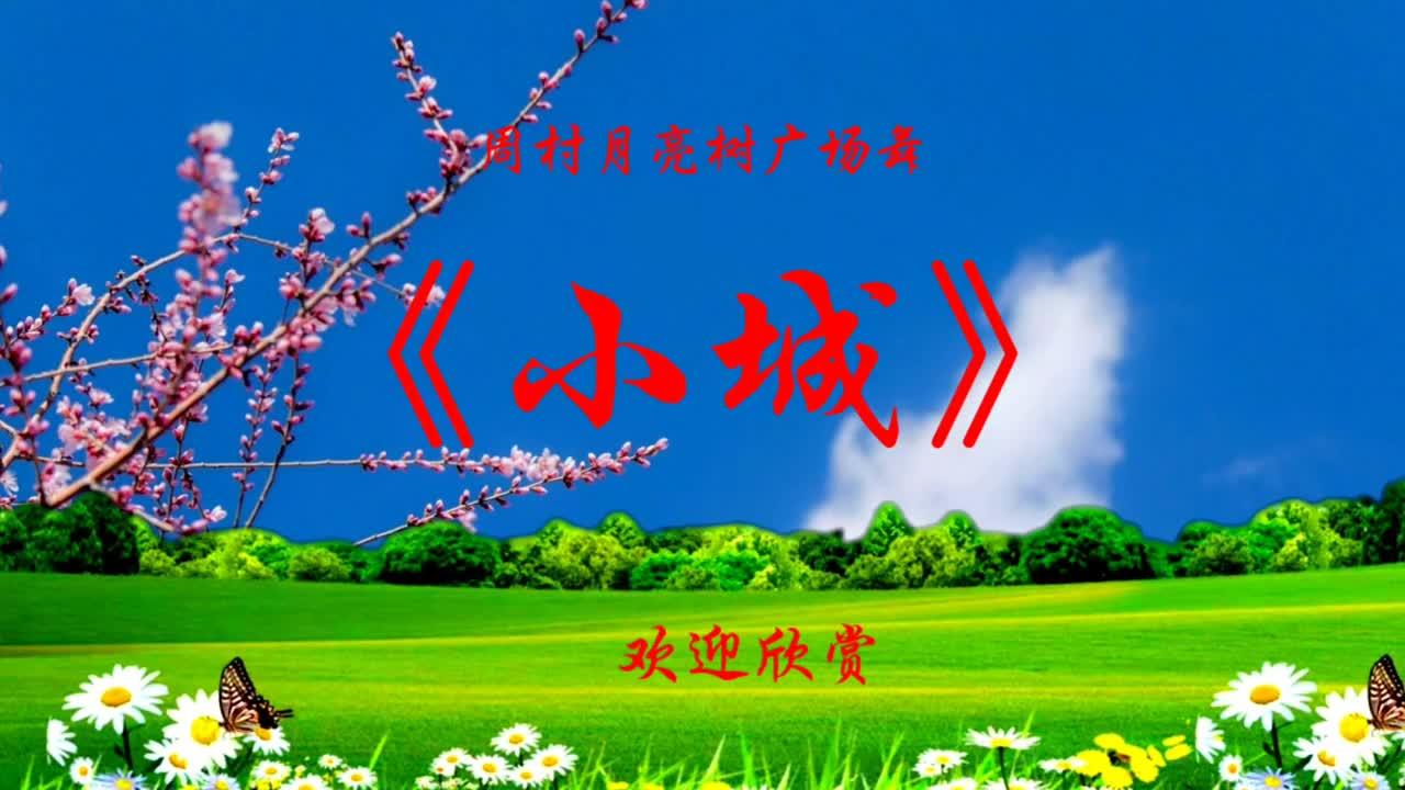 浪漫温馨广场舞《小城》背面,网红暖心舞曲,简单舞步,请欣赏