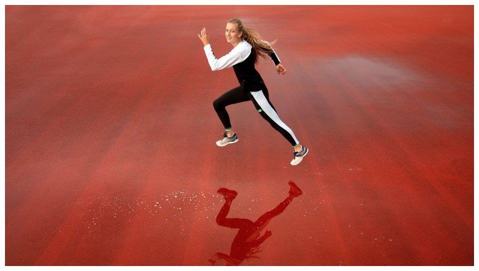 国际田径20岁美人天才横空出世!1米84身高 53秒79比全国纪录快