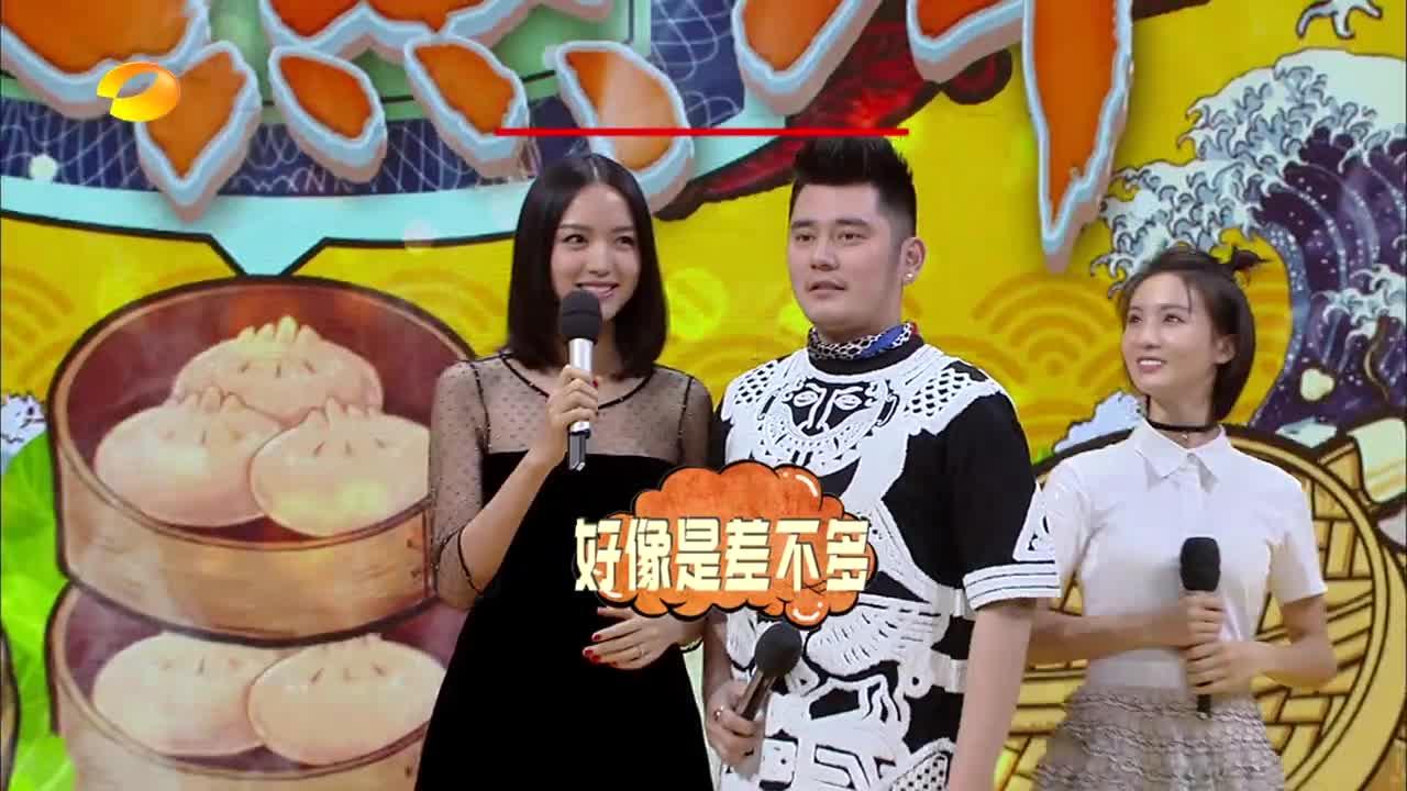 天天向上:钱枫很张梓琳比身高,真是手段用尽!这头发厚度没谁了