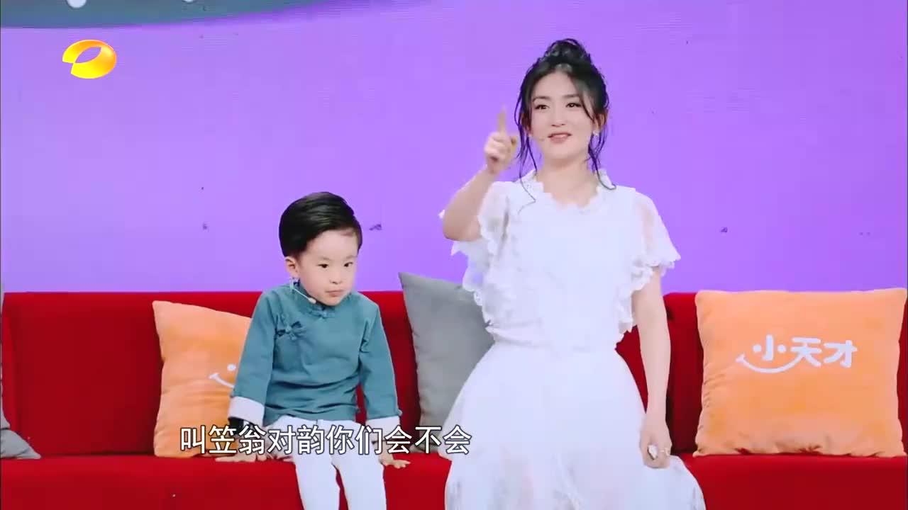 谢娜PK四岁萌娃背诗《笠翁对韵》,被碾压成泥,直呼太丢人了!