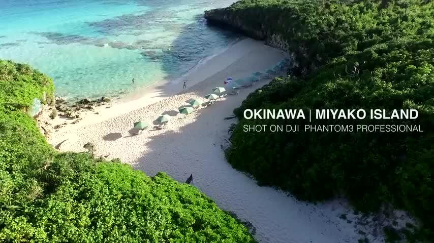 4k高清航拍日本冲绳岛昔日的琉球王国中华故土
