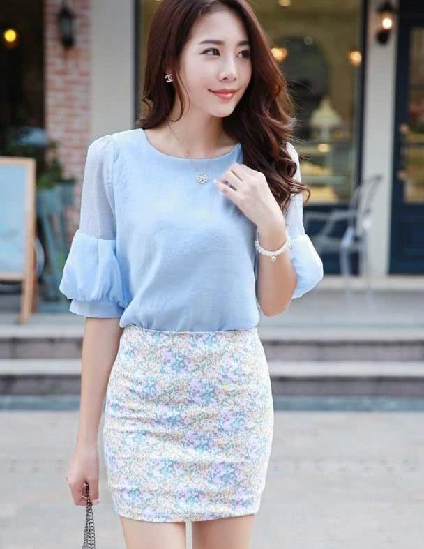 靓丽的裙子搭配,简洁美观优雅大方,给人清新甜美的感觉