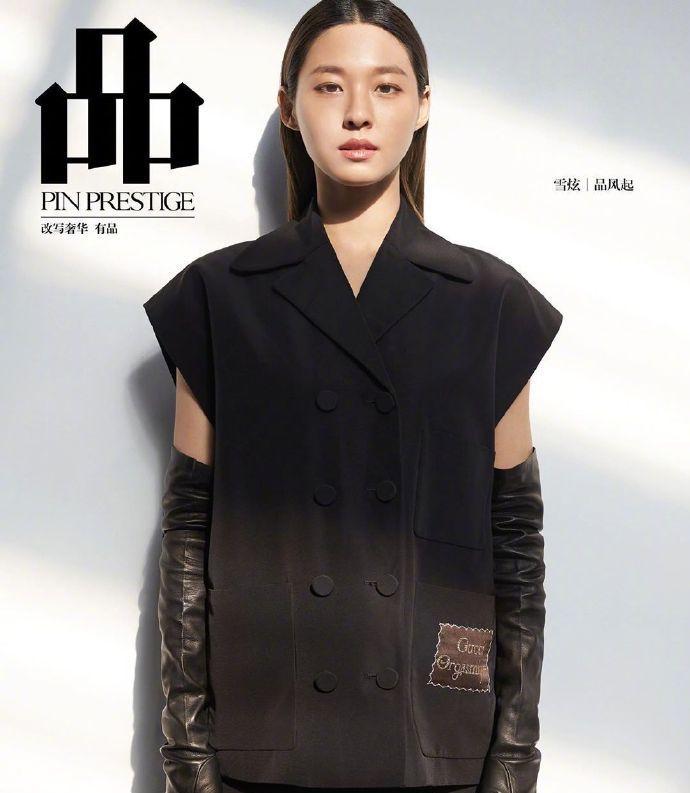 金雪炫穿Gucci西装诠释自己的时尚,不施粉黛,酷飒有型帅气十足